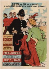 Vintage French poster -  Western Railroad Line (1899)